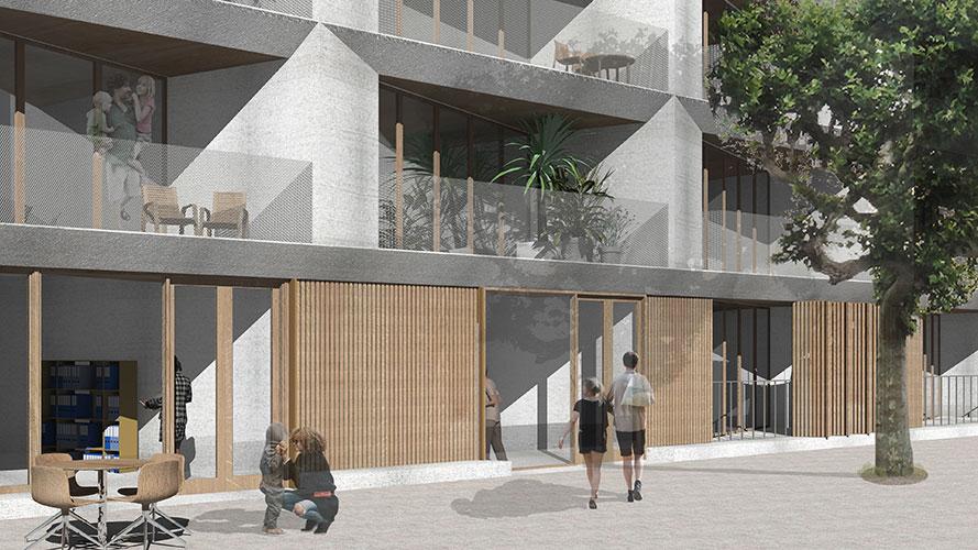 champenois architectes montreuil 14 logements champenois architectes. Black Bedroom Furniture Sets. Home Design Ideas